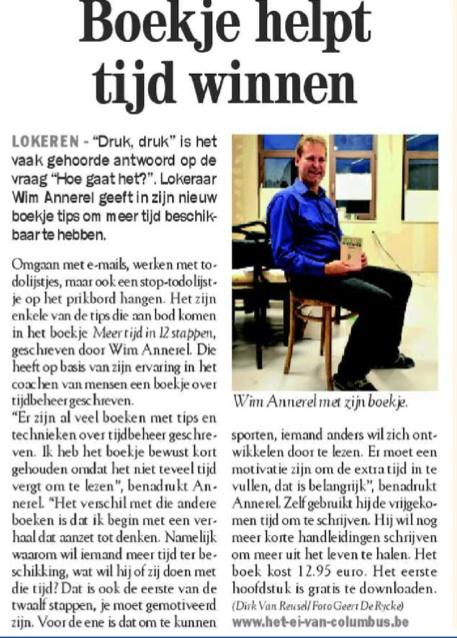 Meer tijd in De Zondag (6 oktober 2013)